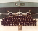 First squadron photo. Taken at change of command from LCol. R. Hughes to LCol. R. Laidler.
